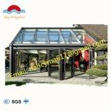 Baixa azul e vidraças de vidro isolados temperado fachada do prédio do painel de vidro com certificado SGS