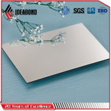 Ideabond espejo de plata de 3mm de paneles de aluminio para la decoración exterior