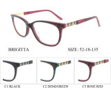 Frames óticos de venda quentes de Eyewear do acetato da mulher com dobradiça da mola