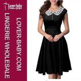 Платье коктеила партии знаменитости женщин блока цвета Tartan (L36017-2)