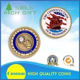 Подгонянная серебряная монета возможности военно-морского флота золота сплава цинка с логосом выдалбливает вне