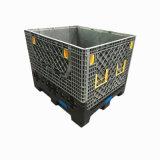 Caixa de pálete plástica Foldable da capacidade elevada do HDPE grande