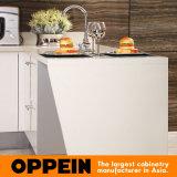 Торговая марка Oppein Белой акриловой U форма деревянные кухонные шкаф (OP15-011)