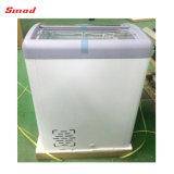 Congelador portable de la visualización del helado de la puerta de vidrio de desplazamiento mini