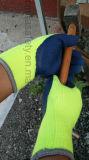 Почищенные щеткой Crinkle латекса вкладыша Терри перчатки безопасности акрилового Coated