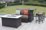Mobília ao ar livre do estilo da Mão-Pintura de 0164 mãos com a tabela do poço do incêndio, o otomano, o coxim profundo de Sunbrella do assento e as cadeiras da barra
