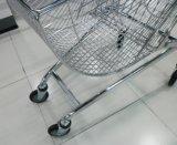 スーパーマーケットの電気円形のバスケットのショッピングトロリー車
