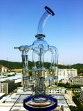 Großhandelsmutterschiff-Schneckenrecycler Perc 4 Gang-schwierige Form-rauchendes Wasser-Glasrohr des Arm-1