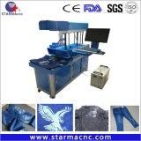 Fibra de escritorio de marcado láser CO2 Máquina de grabado para el Cuero Papel Madera Metal