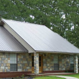 圧縮のさび止めおよび熱絶縁体のカラーによって側面図を描かれる鋼鉄屋根ふきシートに抵抗しなさい