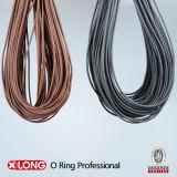 Cuerda / tira de caucho negro flexible NBR 70 para el sellado