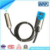 IP68 versenkbarer 4-20mA flüssiger Niveauschalter, elektronischer waagerecht ausgerichteter Schalter mit der AN/AUS-Steuerung