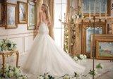 Привлекательный кружевной Diamond валика клея Русалки устраивающих свадьбу одежды (2874)
