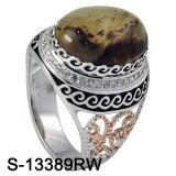 925 فضة مجوهرات زركونيوم رجال حلول مع [أغت.] طبيعيّ