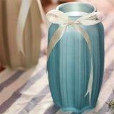 Vaso Octagonal di vetro della banda della decorazione dell'interno domestica