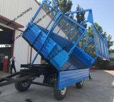 Aanhangwagen van de Doos van het Landbouwbedrijf van het Nut van de Aanhangwagen van de As van de Tractor van twee/Vier Banden de Enige
