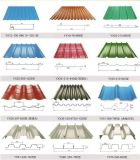 Metal que telha rolo ondulado da folha do telhado que dá forma à máquina