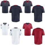 Дешевые индивидуальные любое имя любой № любой логотип ГРУППЫ МУЖЧИН ЖЕНЩИН детей в Хьюстоне элитная игра красный синий белый цвет команды американского футбола футболках NIKEID