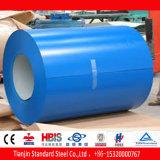 Tôle d'acier enduite d'une première couche de peinture bleue azurée de Ral 5009 PPGI