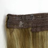 2015년 공장 Wholesale Price 100%년 Virgin Brizilian Hair, Halo (안으로 Flip) Hair Extension