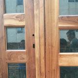 Fabrik kundenspezifische Eingangs-hölzerne Panel-Tür mit schwarzer Walnuss