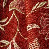 소파를 위한 빨간색 셔닐 실 추종자 재잘거림 직물
