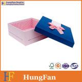 Горячая штемпелюя подарка бумаги пакета логоса коробка красного упаковывая