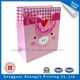Фантазии розовый цвет бумаги подарочный пакет с матовое ламинирование