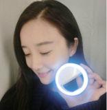 Uno mismo-Temporizador del flash de la muchacha de la belleza de la luz LED del terraplén de la belleza de la lente de Apple