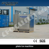 Máquina de gelo com placa
