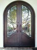 Porta dobro feita sob encomenda superior quadrada de ferro feito de Securrity Comtemporary
