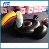 Pool de animal inflável adulto preto Passeio de flutuação de Brinquedos de praia