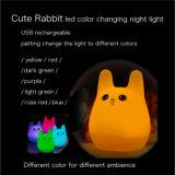 Cute Rabbite LED lumière de nuit pour bébé