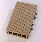 Decking composé en plastique en bois extérieur du plancher WPC de 140*25mm