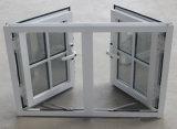 Doppeltes Glas mit Rasterfeld, pulverisieren überzogenes Aluminiumflügelfenster-Fenster K03053