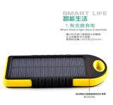 5000mAh Banque d'énergie solaire chargeur de batterie étanche avec port USB double pour les mobiles
