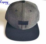 Sombrero de los 6 paneles con el surtidor tejido de la escritura de la etiqueta