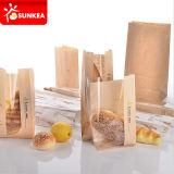 Brown Kraft Food Packaging Sacos de papel com janela