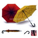 صنع وفقا لطلب الزّبون [190ت] [بونج] مع خطّ انعكاسيّة سيارة مظلة مفتوح مستقيمة