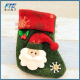 Bas du père noël de bas de décoration de Noël/bas de bonhomme de neige