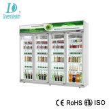 TÜR-Bildschirmanzeige-Kühlraum der Energieeinsparung-5 Glasmit dem Ventilator-Abkühlen