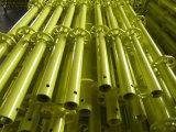 Qualité de verticale d'échafaudage de Ringlock peinte par jaune
