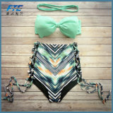 여름 높은 허리 여자의 형식 비키니 수영복 수영복