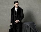 Manteau d'hiver à laine et à laine en peau de haute qualité