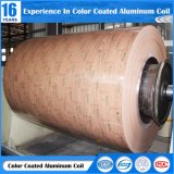 PE/PVDFの建築材料のための木製の穀物の絵画アルミニウムコイル