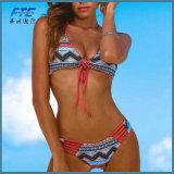 Горячий купальный костюм секси Strappy порванный жгут линии бикини Bikini Set