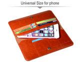 Envie de couleur marron Accessoires Téléphone Mobile Wallet cas pour les smartphones Universal