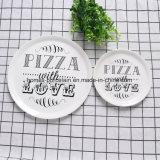 Les plaques de porcelaine de style occidental de la Pizza avec différentes tailles