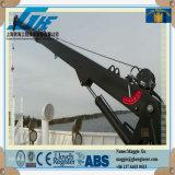 Grue marine télescopique de paquet de potence hydraulique de piédestal