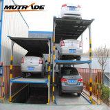 Zwei Pfosten-mechanischer Parken-Aufzug der Fußboden-Vertiefung-vier (PFPP-2)